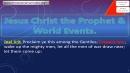 Jesus Christ - The Prophet - WHAT DOES IT MEAN?