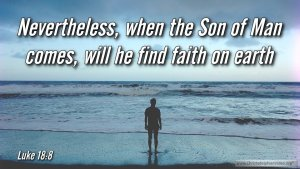 """Thought for September 25th. """"NEVERTHELESS WHEN THE SON OF MAN COMES ..."""""""