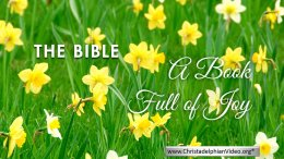 The Bible   A Book Full of Joy & Love