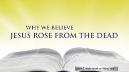 Why we believe Jesus rose from the dead!