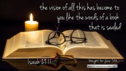 """Daily Readings & Thought for June 5th. """"A BOOK THAT IS SEALED"""""""