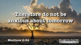 Compilation of Thought for the Day Bible Verses – July 2020