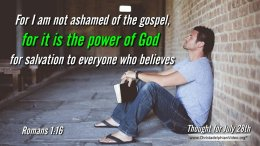 """Daily Readings & Thought for July 28th """"THE POWER OF GOD'"""