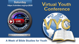 Virtual Youth Conference 2020: Saturday 8th August