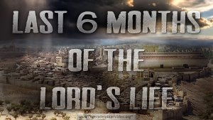 'Last 6 months of the Lord's life'