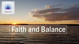 Pause to consider #29: Faith and Balance