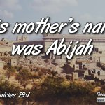 """Daily Readings & Thought for October 31st. """"HIS MOTHER'S NAME WAS …"""""""