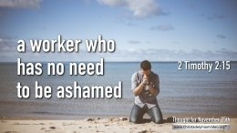 "Daily Readings & Thought for November 25th. "" … NO NEED TO BE ASHAMED"""