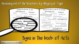 Signs in the Book of Acts - 7 Videos.
