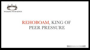 Lesson from the Bible for Children: Walking with Kings: Rehoboam