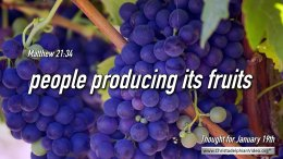 "Daily Readings & Thought for January 19th. ""PEOPLE PRODUCING IT'S ..."""