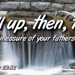 "Daily Readings & Thought for January 21st. ""FILL UP, THEN THE …"""