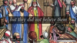 "Daily Readings & Thought for February 19th. "" … THEY DID NOT BELIEVE THEM"""