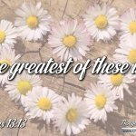 """Daily Readings & Thought for February 28th. """"THE GREATEST OF THESE IS …"""""""