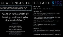 Challenges to the Faith: 3 Day Conference Fri 12th - Sun 14th March
