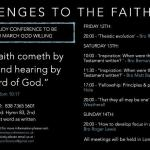 Challenges to the Faith: 3 Day Conference Fri 12th – Sun 14th March