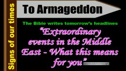 Extraordinary Events in the Middle east! What does this means for you?