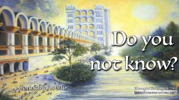 """Daily Readings & Thought for August 23rd. """"DO YOU NOT KNOW"""""""