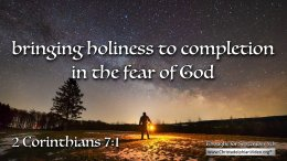 """Daily Readings & Thought for September 5th. """"BRINGING HOLINESS TO COMPLETION"""""""