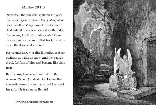 Gospel of Matthew 28 Jesus has Risen