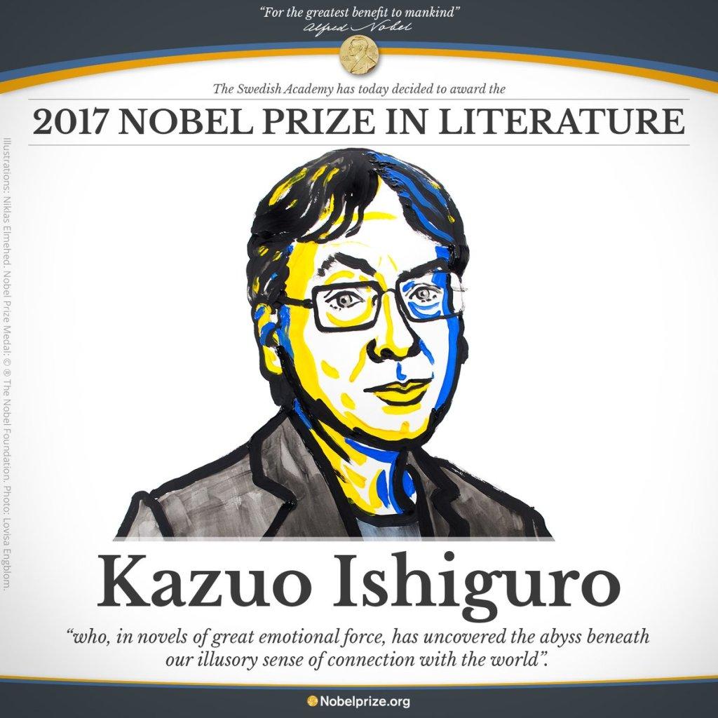 Le prix Nobel de littérature 2017 attribué à Kazuo Ishiguro