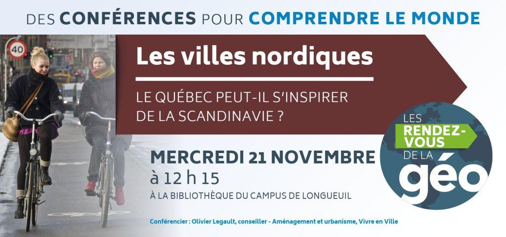 Conférence : «Les villes nordiques : le Québec peut-il s'inspirer de la Scandinavie?»