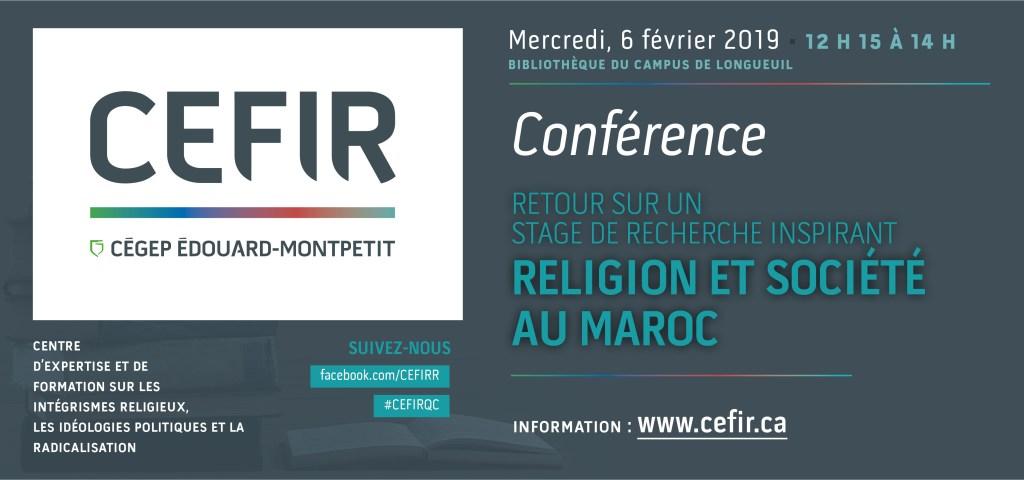 Conférence du CEFIR à la bibliothèque du campus de Longueuil