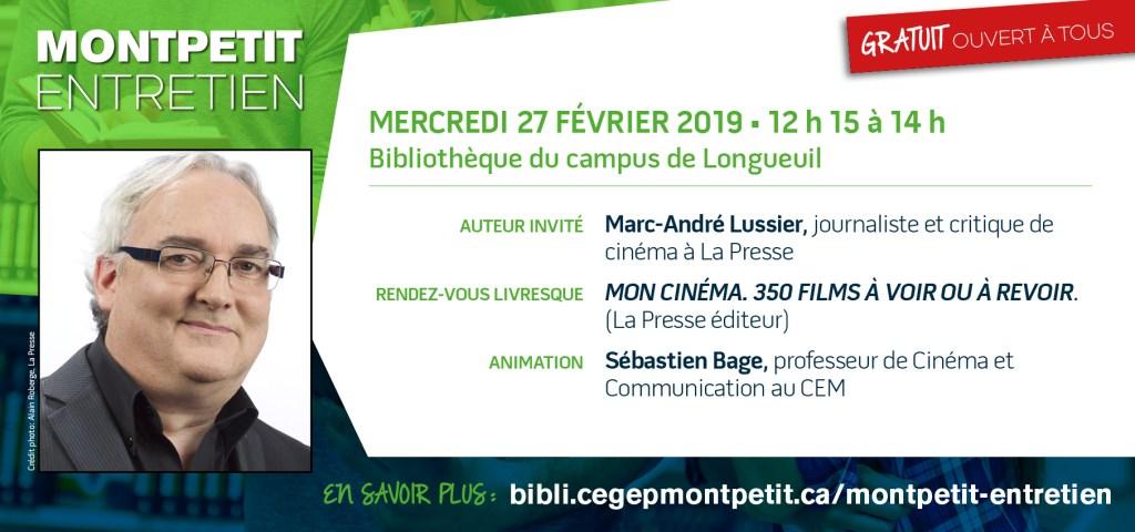 """Marc-André Lussier au """"Montpetit entretien"""""""