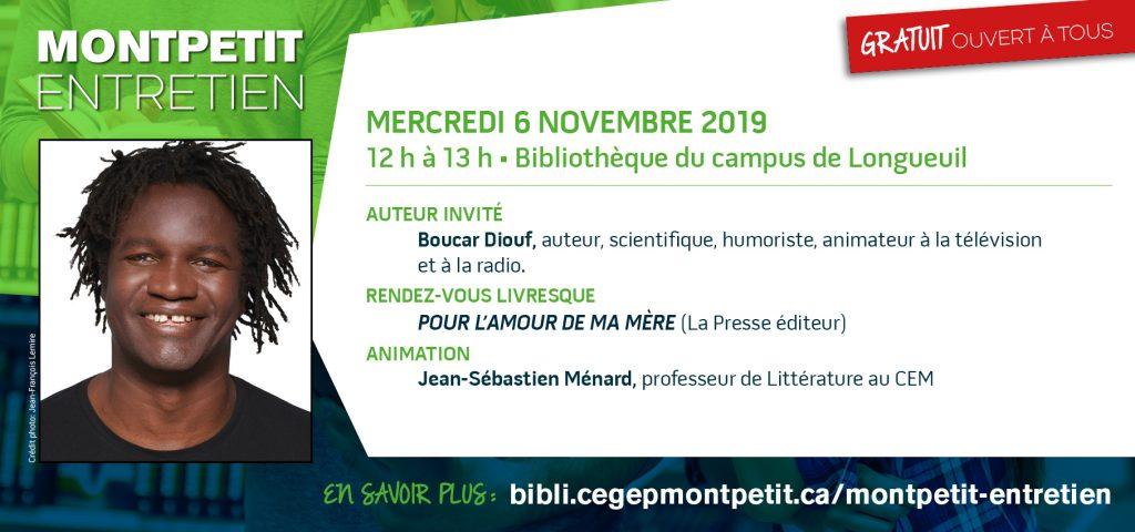 """Boucar Diouf au """"Montpetit entretien"""""""