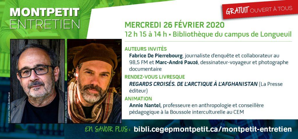 """Des globe-trotteurs à l'honneur au prochain """"Montpetit entretien"""""""