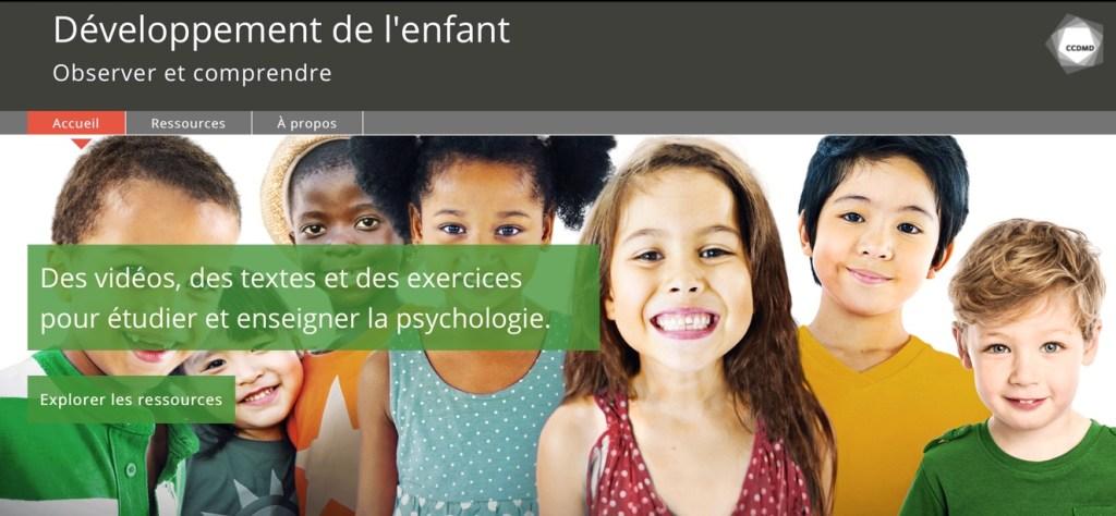 """Le site web """"Développement de l'enfant"""" révisé et augmenté !"""