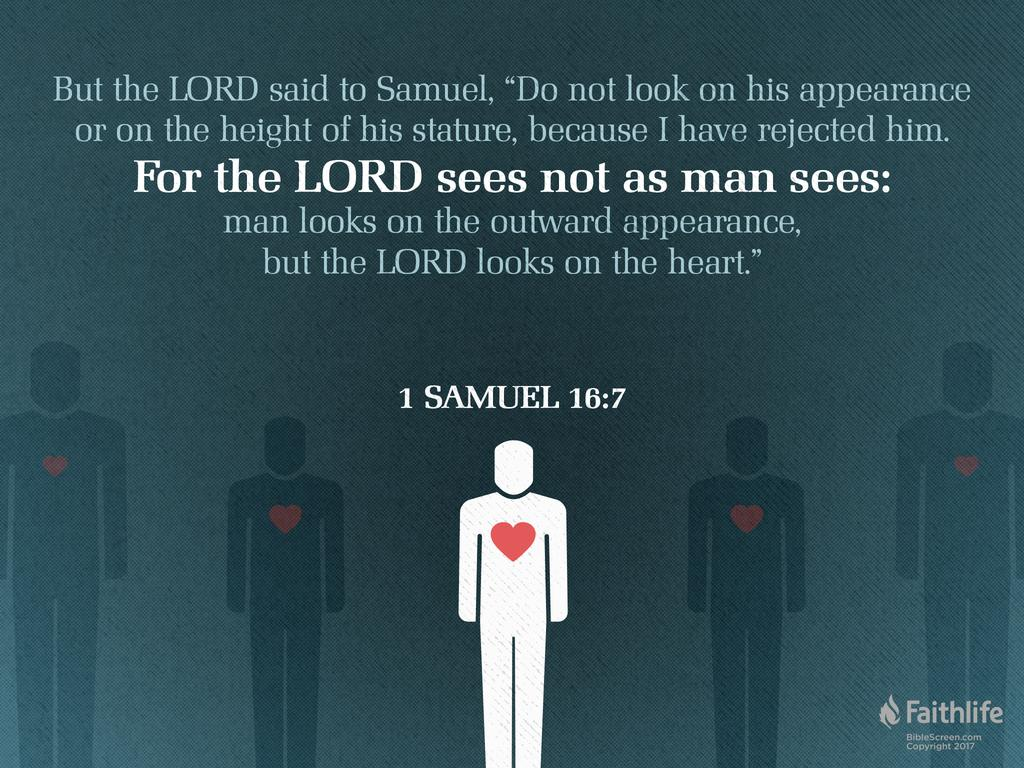 Image result for 1 samuel 16:7