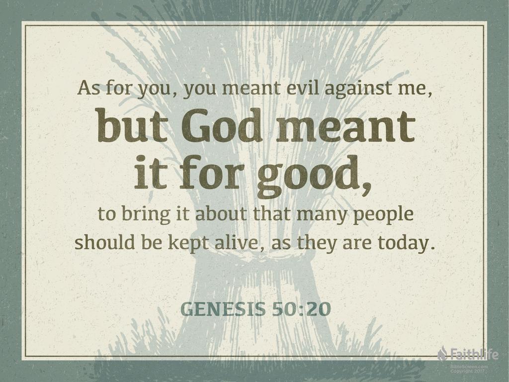 Image result for Genesis 50:20