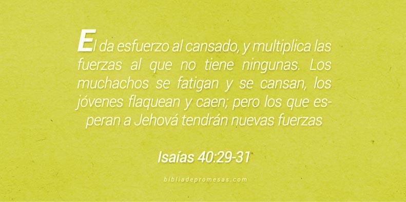 Isaías 40:29-31