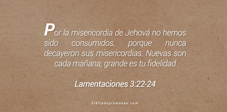 Lamentaciones 3:22-24