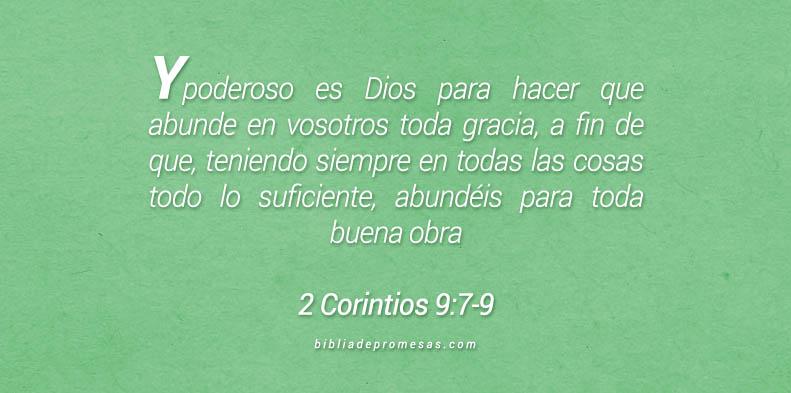 2 Corintios 9:7-9