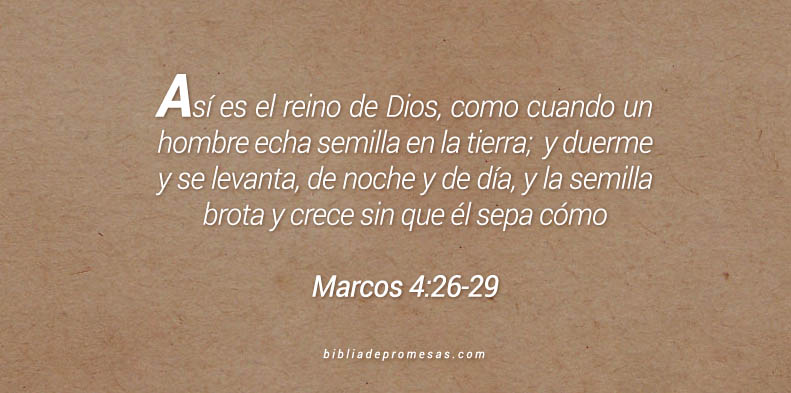 Marcos 4:26-29