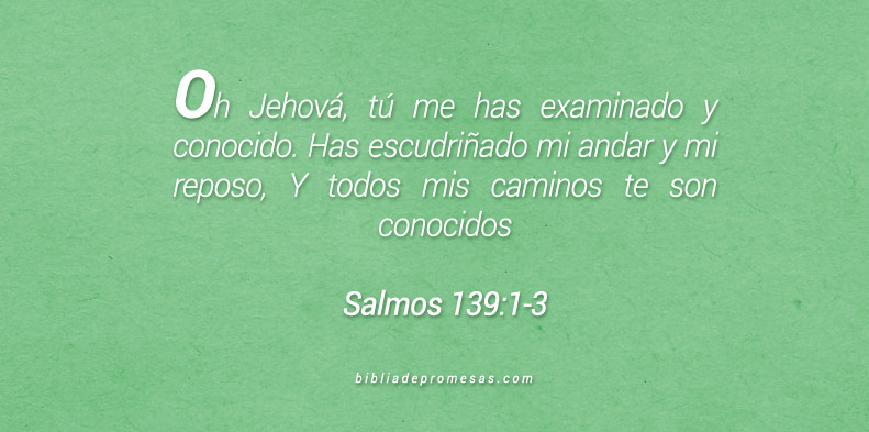 Salmos 139:1-3