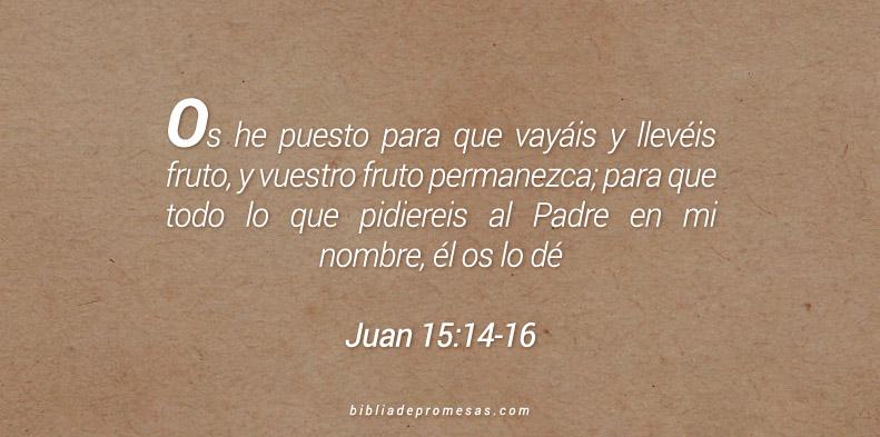 Juan 15:14-16