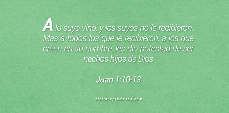 Juan 1:10-13