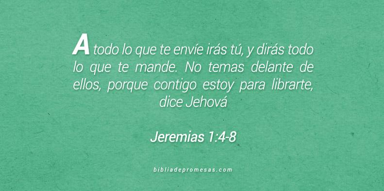 Jeremías 1:4-8