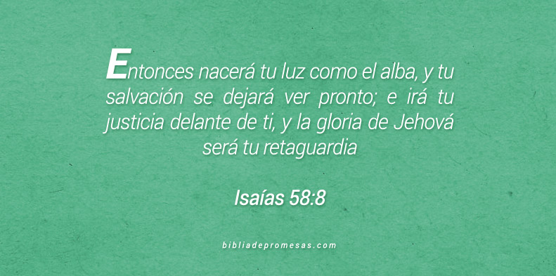 Isaías 58:8