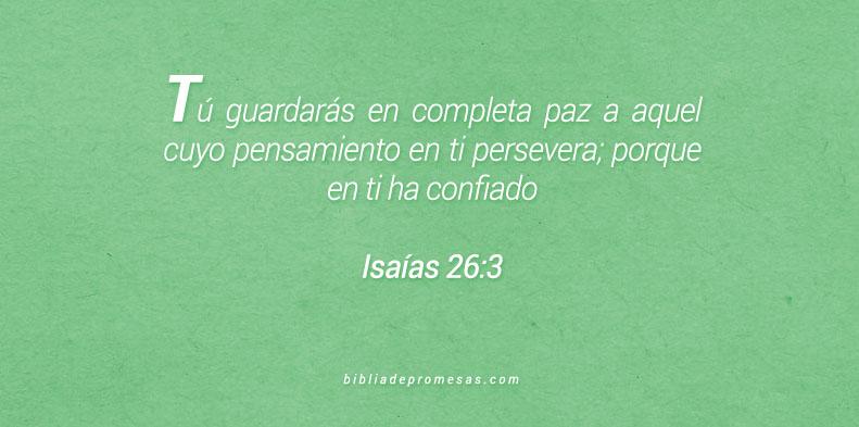 Isaías 26:3