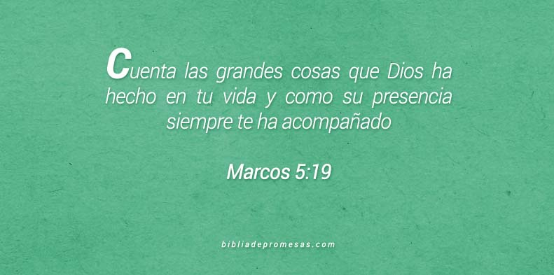Marcos 5:19