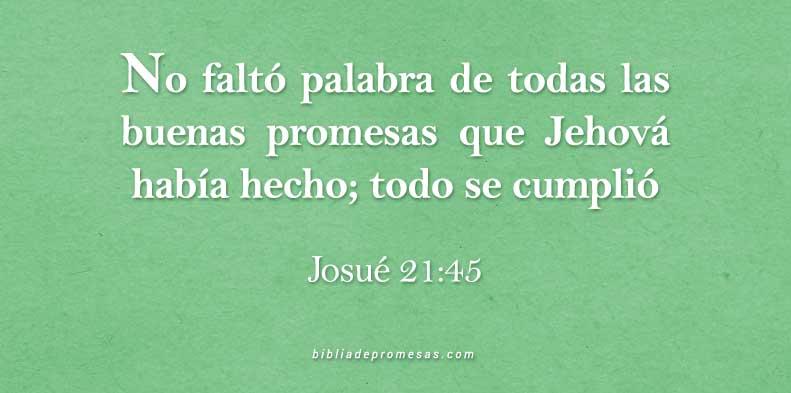 Josué 21 45 Versículo Diario