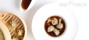 Consomme grzybowe z pierożkami wonton