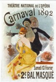 France Old advertising posters Poster announcing the 2nd Masked Ball at the Thì?tre National de l'Opìra in Paris on the occasion of the carnival - 1892