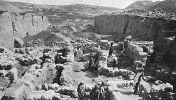 The Trench Across the Western End of the Mound of Gezer