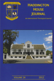 Haddington House Journal volume 14 online 2