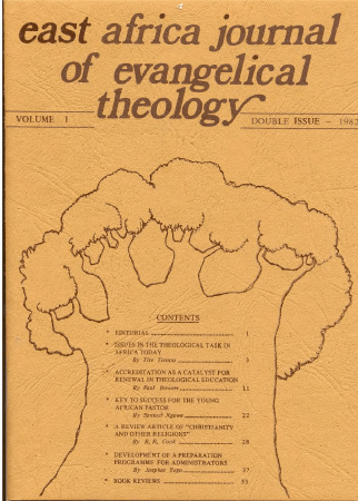 East Africa Journal of Evangelical Theology now on-line 4
